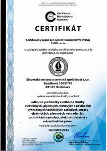 Manžment kvality - odborné skúšky a prehliadky elektrických zariadení